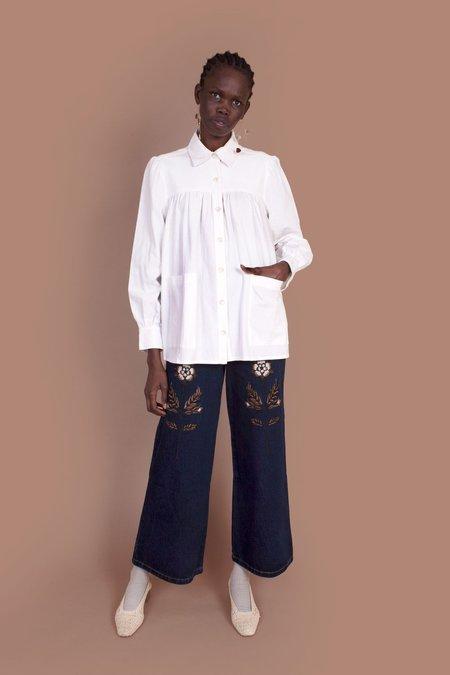 Meadows Artist's Shirt - White
