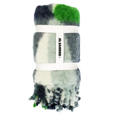 Jil Sander Logo Mohair and wool blanket - Multicolor