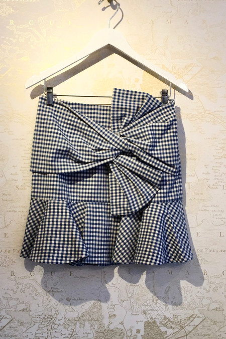 Veronica Beard 'Picnic' Bow Mini Skirt