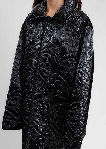 we11done Oversized Quilting Jacket - Black