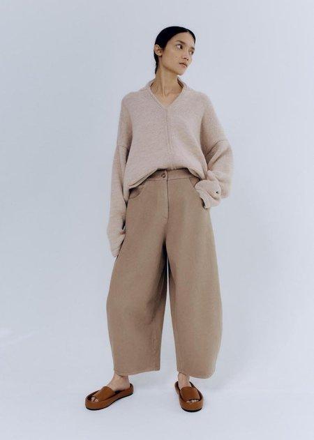 Monica Cordera Curved Leg Pants - Nomad