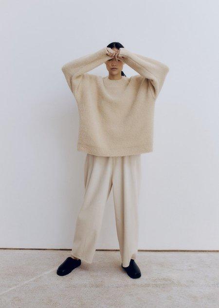 Monica Cordera Shearling Sweater - Beige