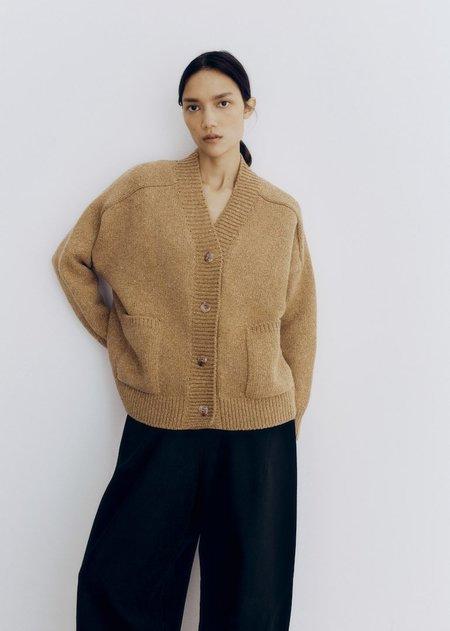 Monica Cordera Soft Wool Cardigan - Camel