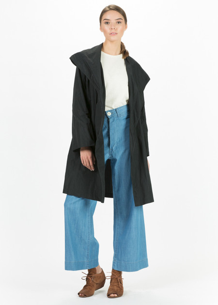 Hudson Oversize Lapel Open Coat