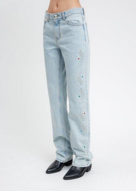 we11done Stud Artwork Pants - Blue