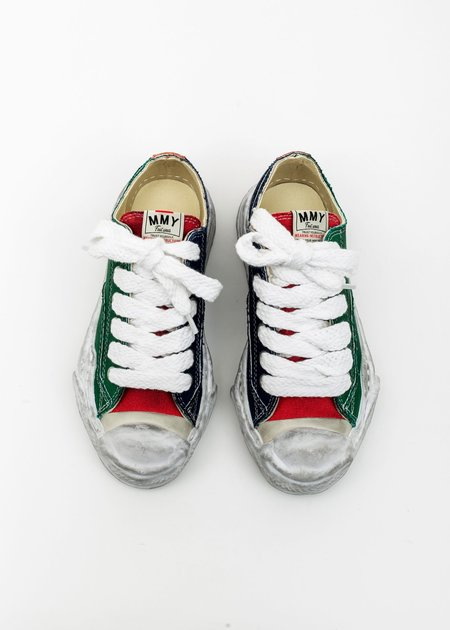 Mihara Yasuhiro Original Distressed Effect Sole Canvas Sneaker - Multi