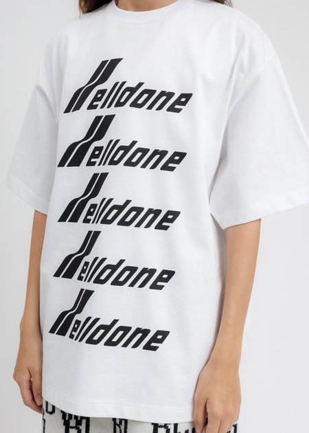 WE11DONE Front Logo T-Shirt - White