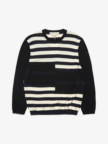 [Pre-Loved] Marni M Stripped Patch Detailed Sweater-prints