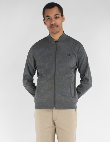Fred Perry Bomber Neck Track Jacket Steel Marl