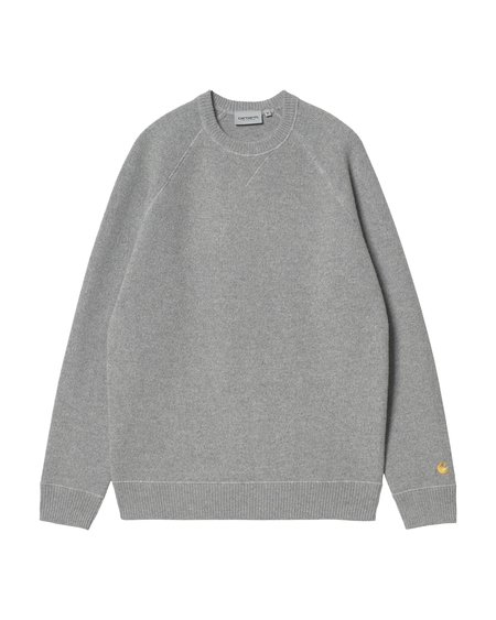 CARHARTT WIP Chase Sweater - Grey Heather/Gold