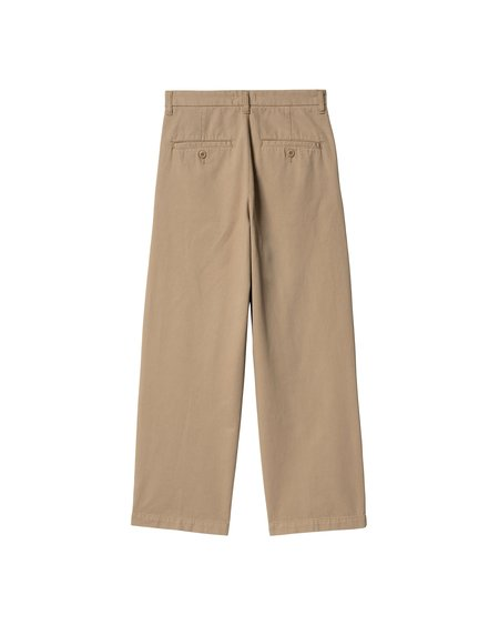 CARHARTT WIP W W Cara Garment Dyed leather Pant - natural