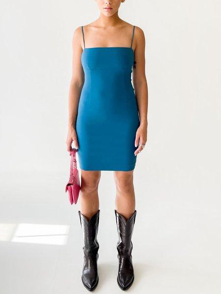 Vintage melissa Cerulean Square Neck Dress - blue