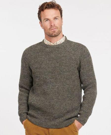 BARBOUR Horseford Crew Knit - Olive