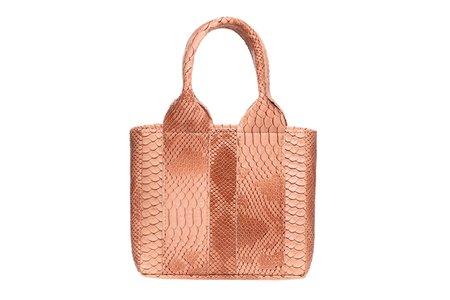 Clyde Snack Bag - Blush Python Effect