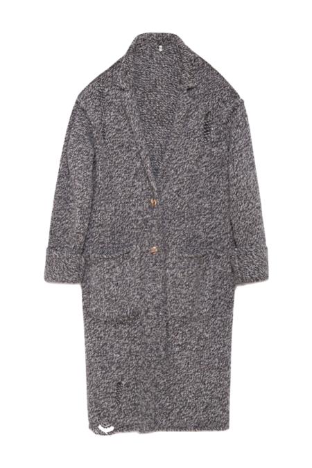 R13 Lapel Sweater Coat
