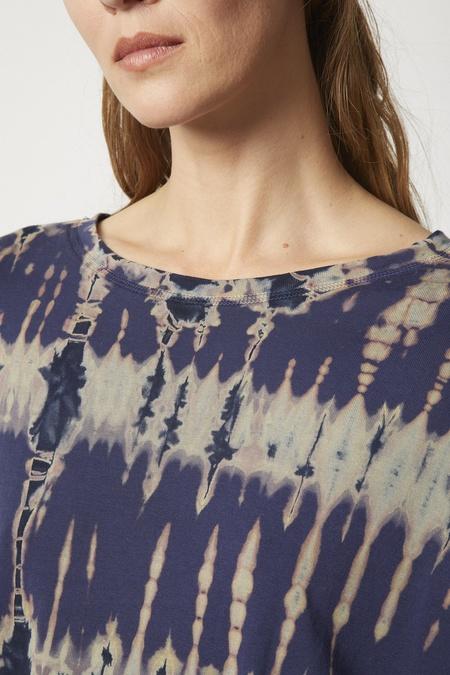 Raquel Allegra Jersey Cocoon Shirt - Navy Storm