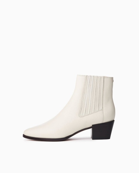 Rag & Bone ROVER SMOOTH LEATHER BOOT - ANTIQUE WHITE
