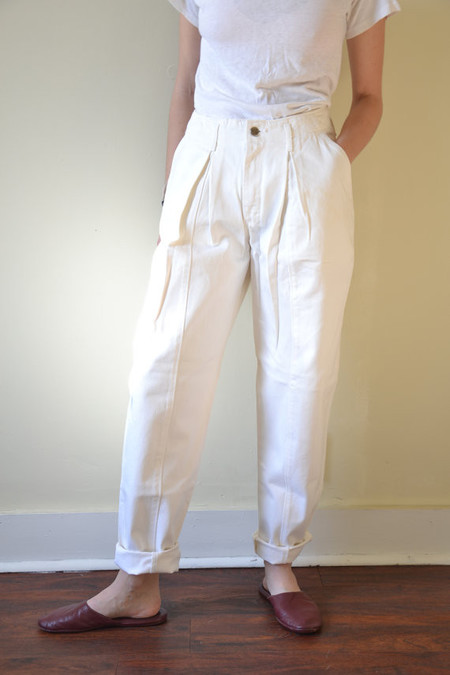 Vintage White Lee Baha High Waist Jeans