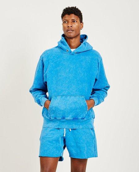 Les Tien Cropped Hoodie - Electric Blue