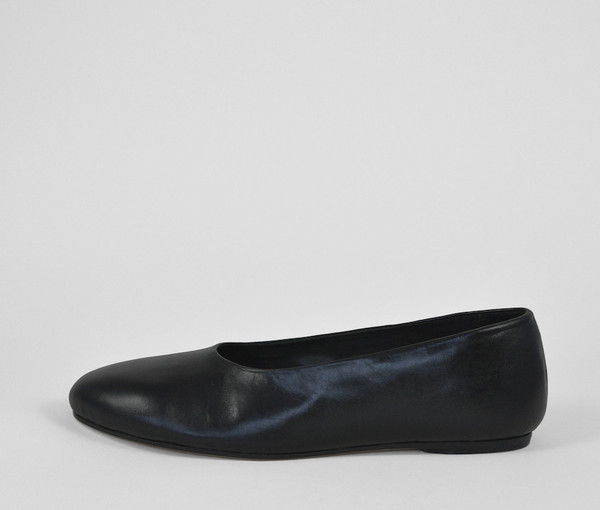 The Palatines Shoes adeo high vamp ballet flat - black leather