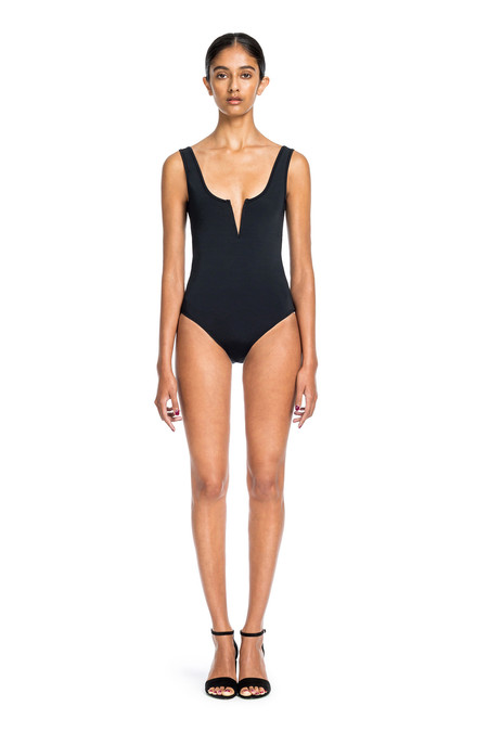 Beth Richards Ines One Piece - Black Tank One Pc Style With V Wire Front