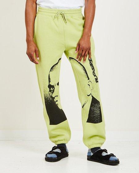 PLEASURES Backbone Sweatpants - Neon Green