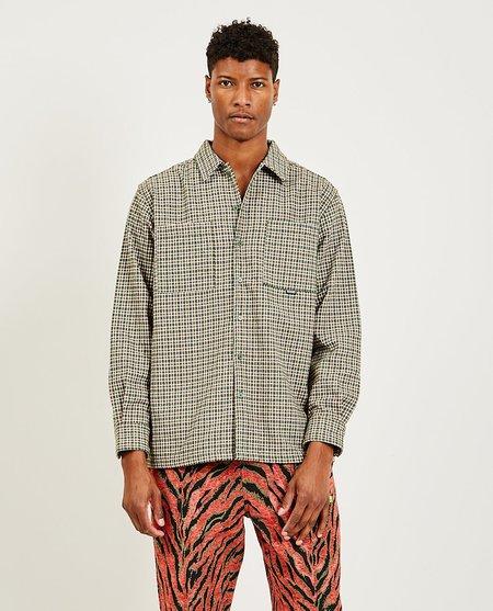 PLEASURES Ignition Plaid Shirt - Green/Beige Check