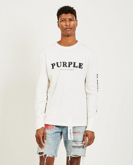Purple Brand As Above LS Tee - Ecru