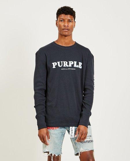 Purple Brand As Above LS Tee - Wash Black