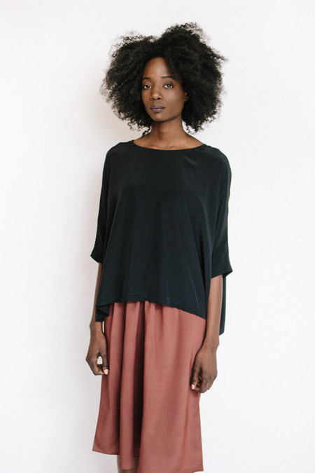 Revisited Matters Silk Sweater / Black