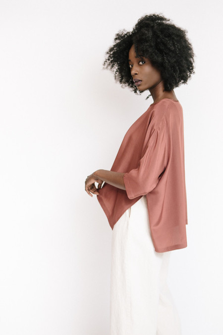 Revisited Matters Silk Sweater / Marsala