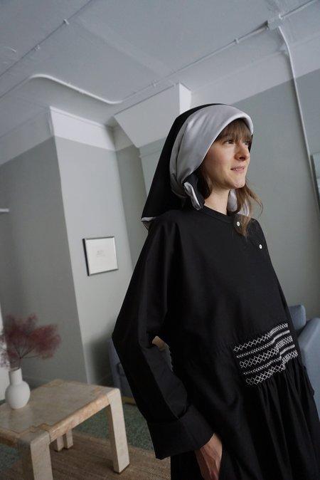 SOFIE D'HOORE ABLE PADDED SILK SCARF - Black