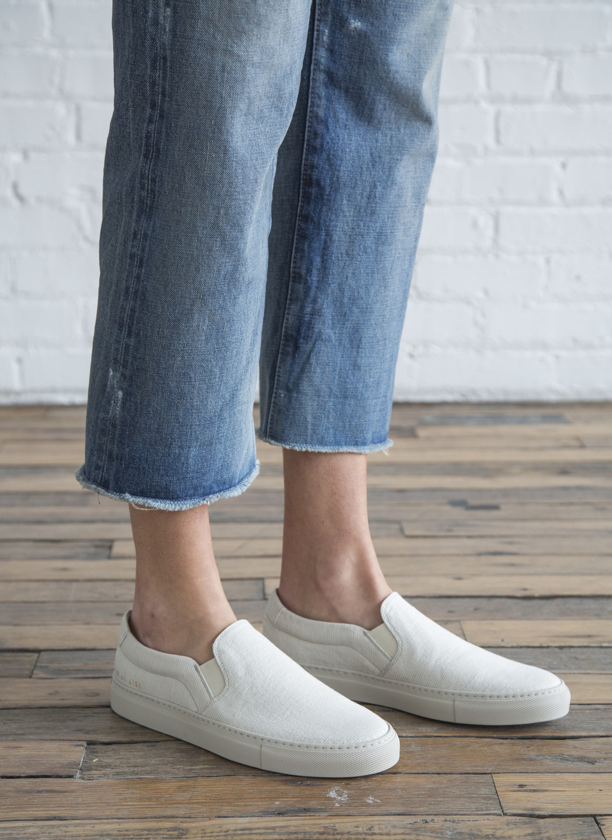 Woman by Common Projects Denim Stripe Slip-On Sneakers buy cheap 2014 newest outlet best seller store cheap sale reliable 08RNsAHaip