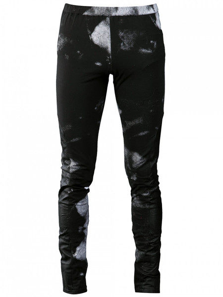 MEN'S HORACE BLEACH PRINT LEATHER PANELLED LEGGINGS