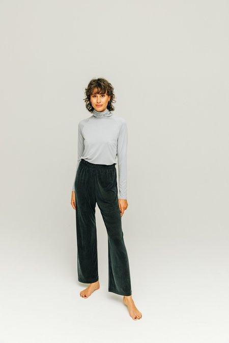 moya kala Cupro high waist pants - graphite