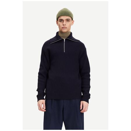 Samsoe Samsoe logan turtle neck zip sweater  - Sky Captain