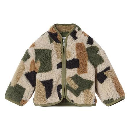 Kids Stella McCartney Baby Teddy Jacket - Camo Print Green