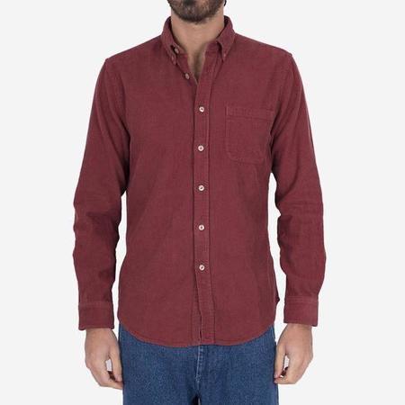 PORTUGUESE FLANNEL Lobo Corduroy Shirt - Bordeaux