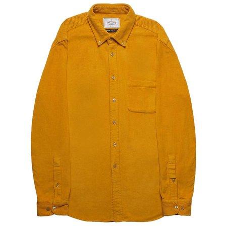 PORTUGUESE FLANNEL Lobo Corduroy Shirt - Mustard Yellow