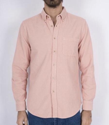 PORTUGUESE FLANNEL Lobo Corduroy Shirt - old rose