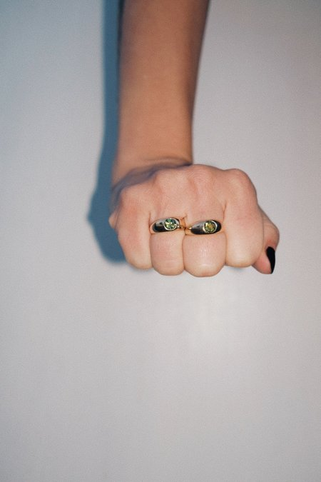 Unisex Luiny Hilma Ring -  Peridot