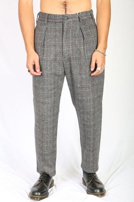Engineered Garments Carlyle Pant - Grey Maroon Poly Wool Gel Plaid