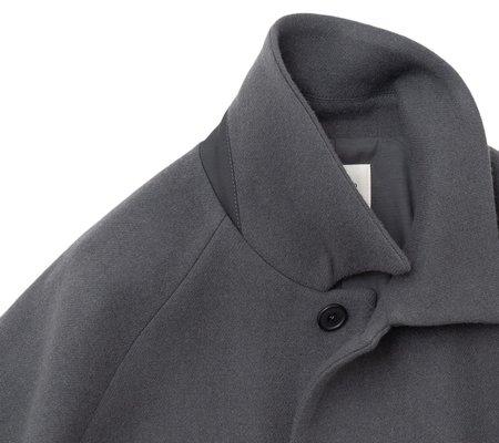 Still By Hand Oversized Bal Collar Coat - Slate Grey