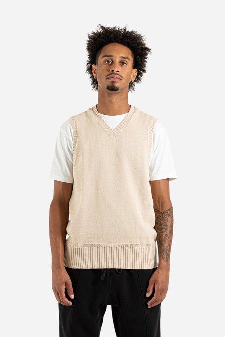 s.k. manor hill Sweater Vest - Cream Cotton