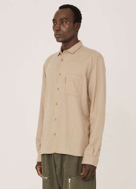 YMC Curtis Brushed Cotton Twill Shirt - Camel