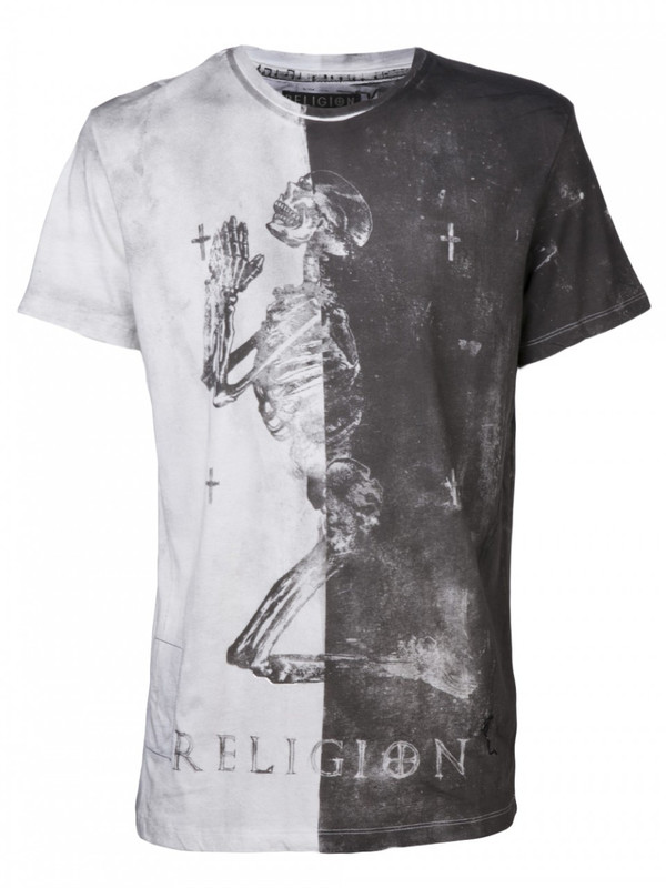 RELIGION ALL OVER CARRIER CREW NECK TEE