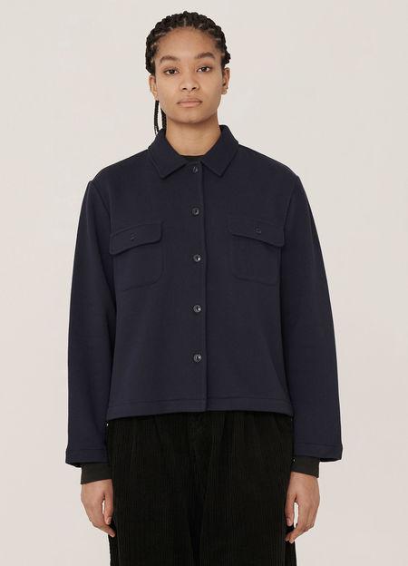 Vegas Cotton Brush Back Sweatshirt - Navy