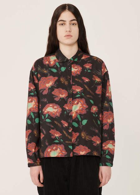 YMC Marianne Rayon Cotton Shirt - Floral Print Multi