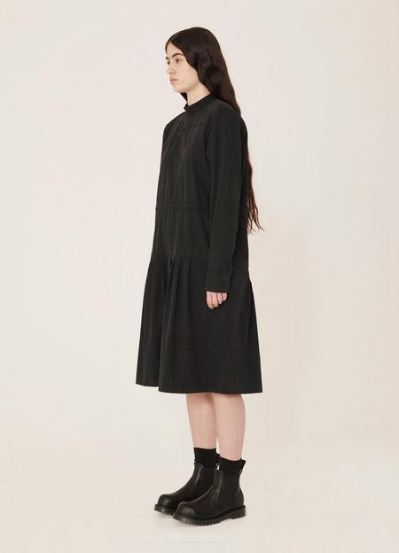 YMC Temple Stretch Cotton Garment Dyed Dress - Black