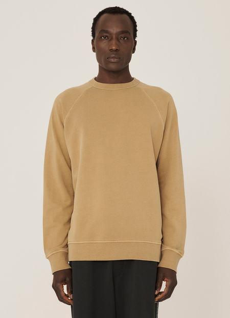 YMC Schrank Cotton Raglan Loopback Sweatshirt - Camel